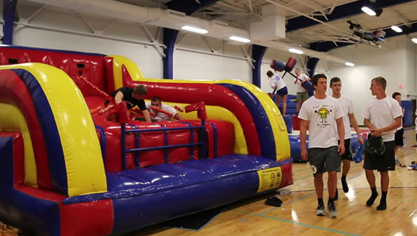 inflatable games after prom party