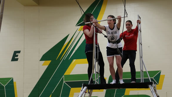 flying trapeze after prom party