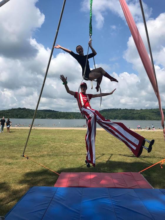 Aerial Acrobatics Show