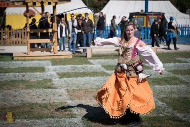 Renaissance Girl Costume Actor