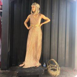 Roman Toga Girl Living Statue