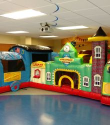 Inflatable Train Obstacle Course